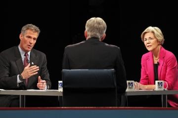 Scott Brown, Elizabeth Warren, David Gregory