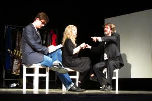 Павел Юркин в роли репортёра (слева). Фото: Барсукова Ира